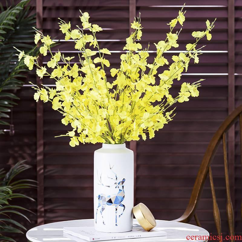 Nordic light vase key-2 luxury furnishing articles sitting room table TV ark, hydroponic flower arranging flowers ceramic creative decorations