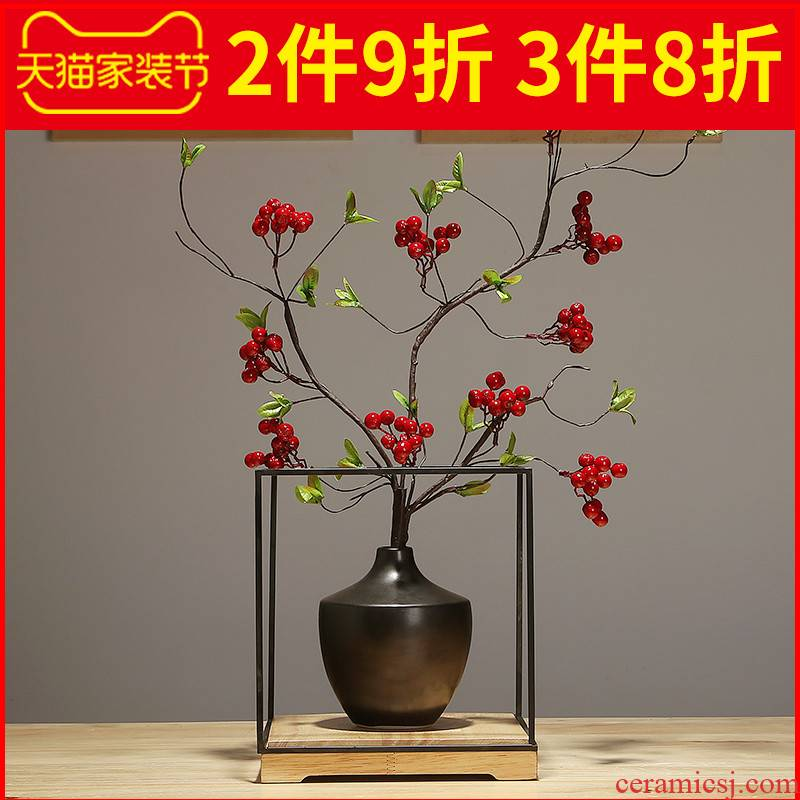 Sitting room dry flower arranging flowers decorate ceramic vase household furnishing articles furnishing articles contracted and I creative porch table vases