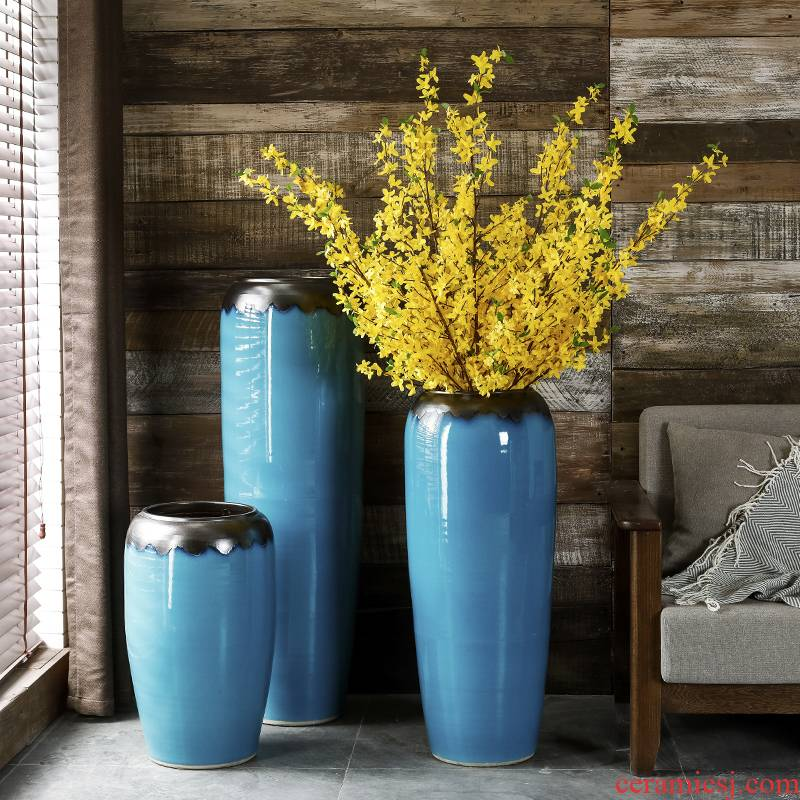 American landing large ceramic vase furnishing articles contracted and I sitting room flower arranging dried flower hotel villa European - style decoration