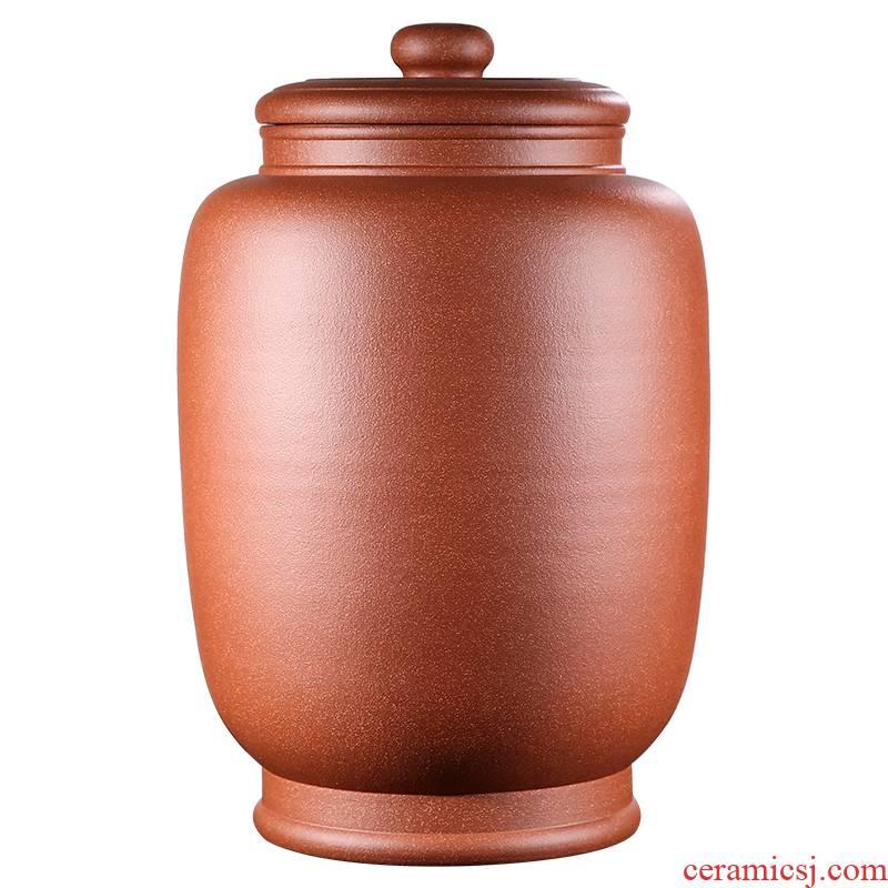 Shadow at yixing purple sand tea pot oversized tea urn undressed ore down slope mud manual pu seal storage tanks JH
