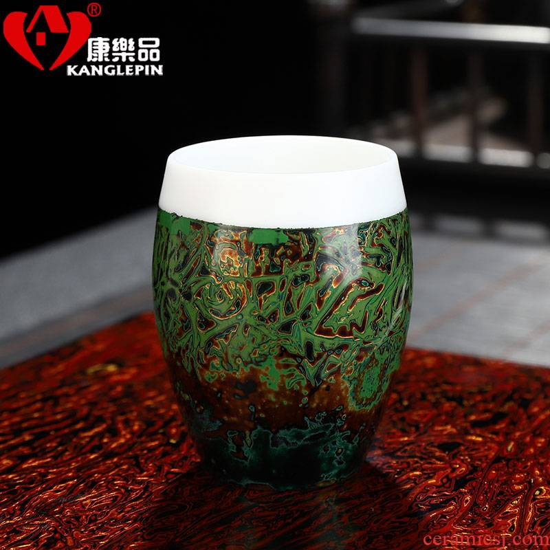 Recreational product lacquer creative manual Chinese lacquer master cup single CPU suet jade white porcelain ceramic household sample tea cup