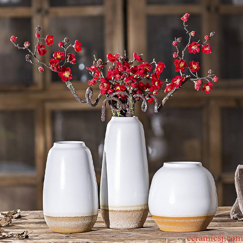 Jingdezhen Nordic vases, ceramic creative furnishing articles dried flowers sitting room adornment flower arranging hydroponic restore ancient ways small POTS furnishing articles