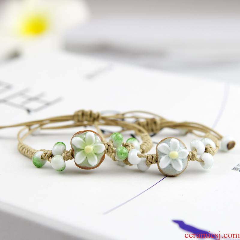 QingGe manual Chinese ceramic bracelet with small pure and fresh and the wind act the role ofing is tasted sweet girlfriends booth in supply