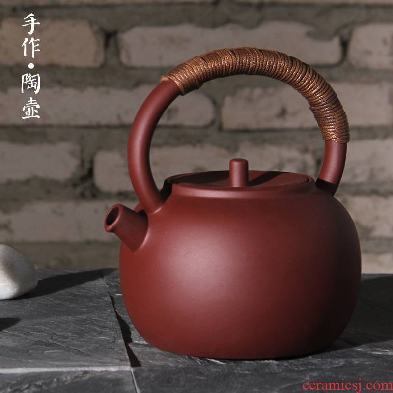 Manual purple purple clay ceramic POTS of household teapot coarse ceramic electric TaoLu flame'm girder kettle boil tea
