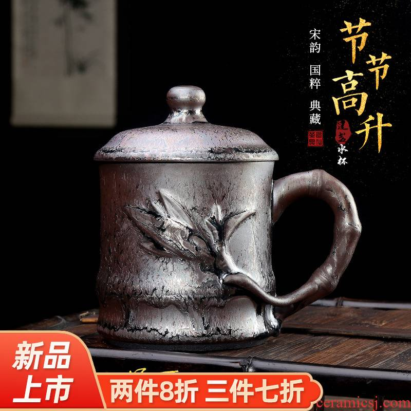 Artisan fairy private custom built lamp glass ceramic checking office mark cup with cover large capacity make tea cup