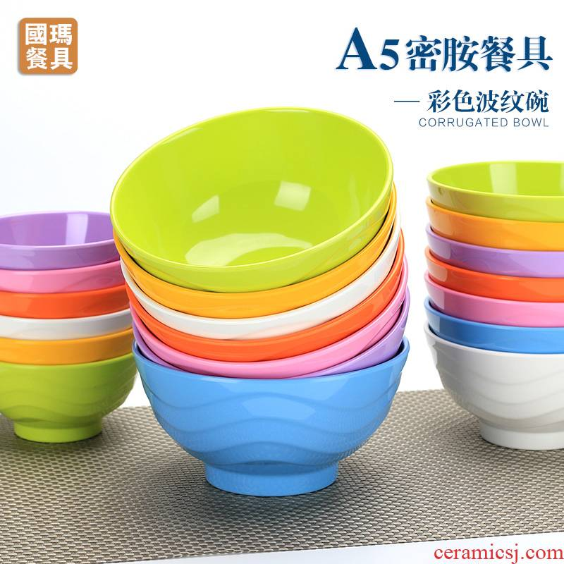 Scene wishful A5 color melamine bowl creative plastic bowl bowl noodles bowl children household of Chinese style imitation bowls meal