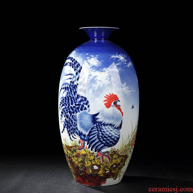 Jingdezhen vases, antique hand - made manual Chinese penjing mesa of famille rose porcelain vase