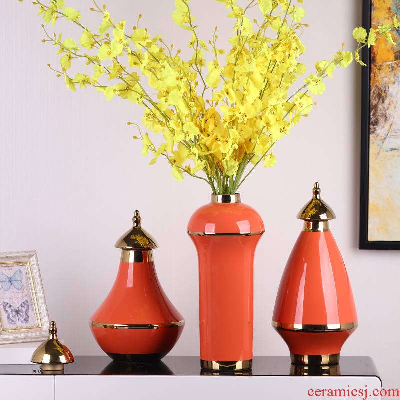 I and contracted style key-2 luxury light ceramic vase furnishing articles creative home sitting room porch TV cabinet table decorations