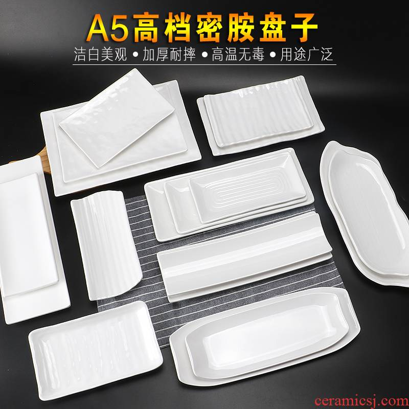 View the best white melamine rectangular plate of imitation porcelain ltd. hot pot restaurant beef barbecue plates of sushi plastic plate