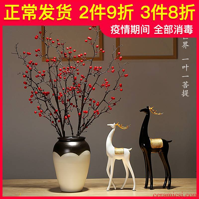 Jingdezhen ceramic vases, I and contracted style home furnishing articles adornment of the sitting room porch dried flowers flower arrangement suits for