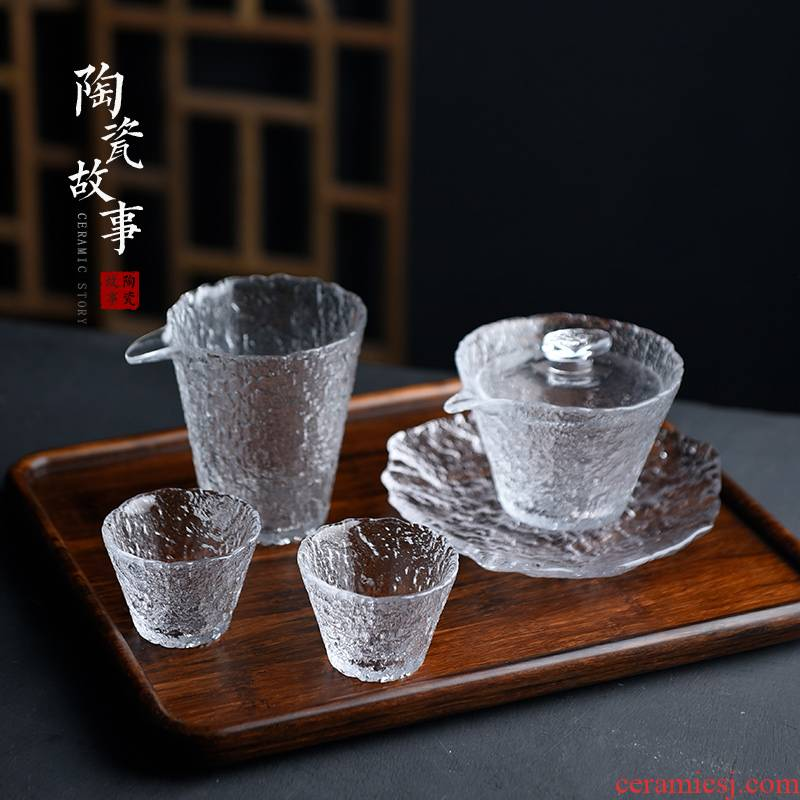 Ceramic fair story glass tureen tea cup three only a single use kung fu tea set more heat