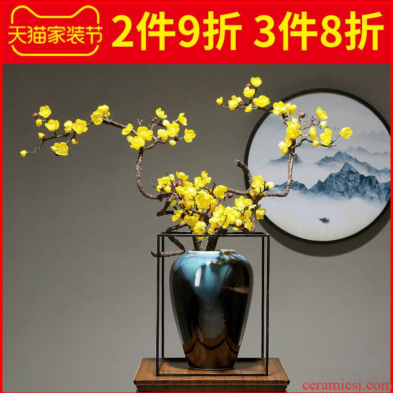 Pottery and porcelain vase creative light much manual sitting room porch dried flowers flower arrangement furnishing articles table decoration home decoration