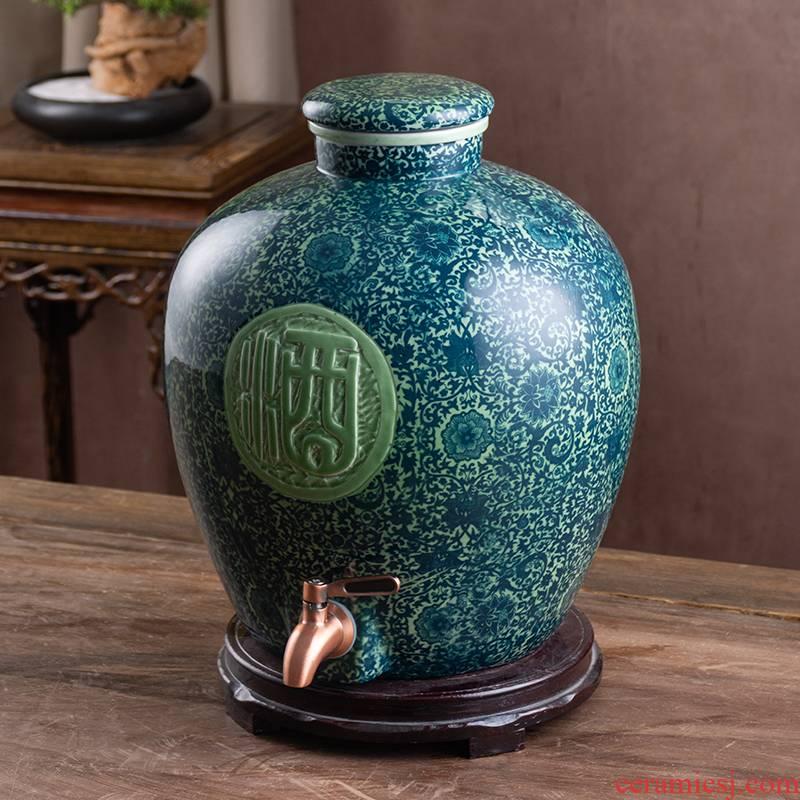 Jingdezhen ceramic jars with leading 10 jins 20 jins 30 jins 50 kg archaize jugs home seal terms bottle