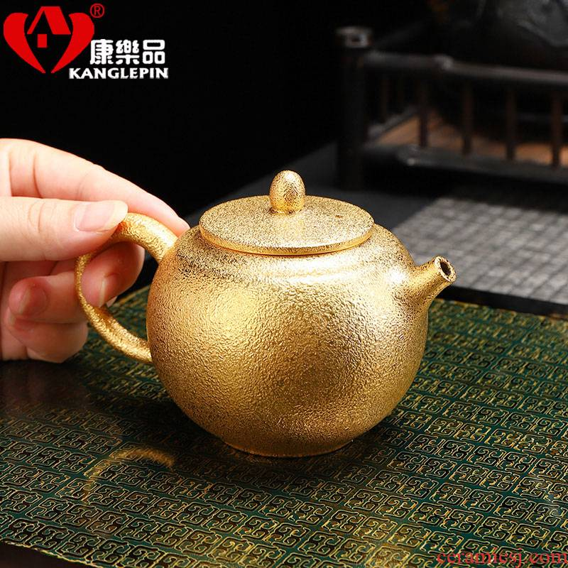 Recreational products checking violet arenaceous gold little teapot office home tea, kungfu tea set personal single pot