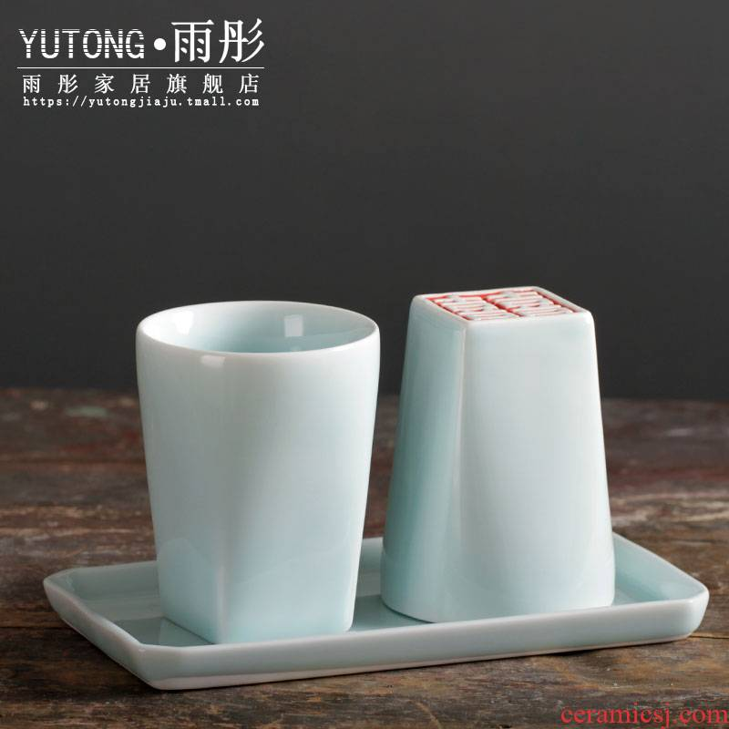 Jingdezhen ceramic manual double happiness/f ceramic cup cup I couples furnishing articles birthday birthday gifts