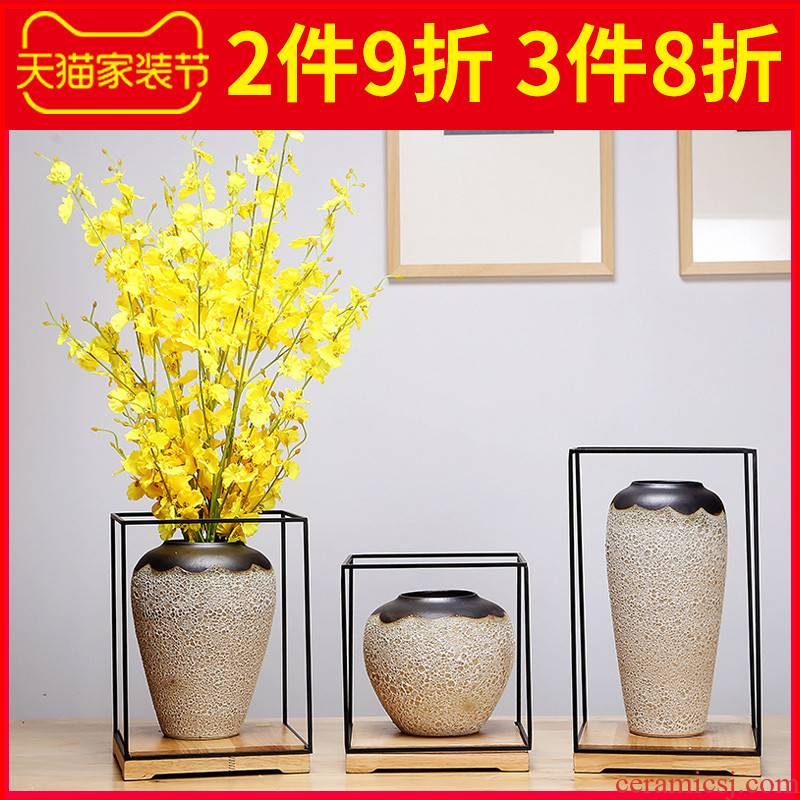 Jingdezhen ceramics vase creative manual Chinese study, the sitting room porch place dried flowers flower arrangement craft