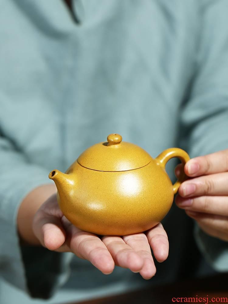 It pure checking gold period of mud mini beauty stone gourd ladle gourd ladle zisha teapot tea set home