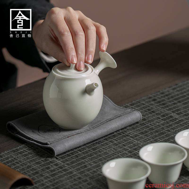 "The Self - ""appropriate physical plant ash teapot Japanese measuring pot teapot ceramic household single pot little teapot kung fu tea set"