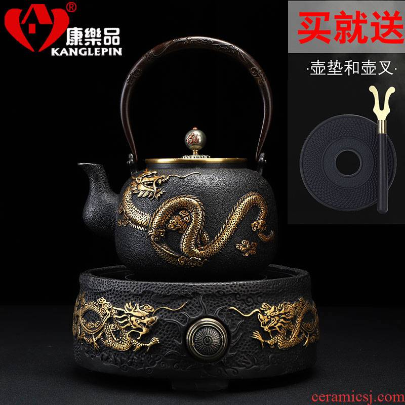 Recreational product electric TaoLu suit small tea pot of cast iron and gold kettle boil tea home burn boiled tea stove