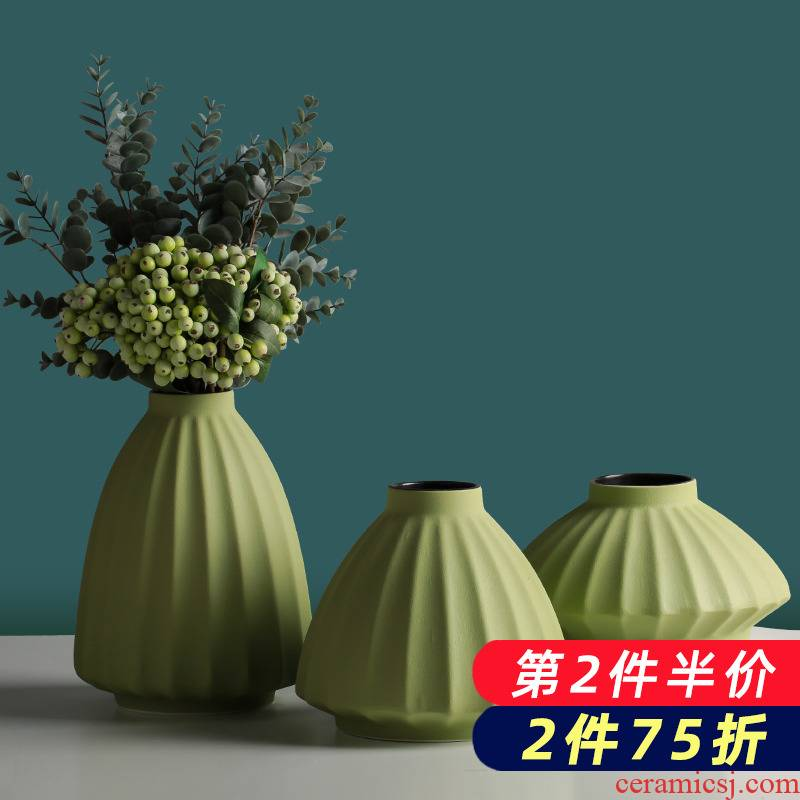 Floret bottle ceramic creative Nordic dry flower arranging flowers hydroponics furnishing articles sitting room of I and contracted household adornment table