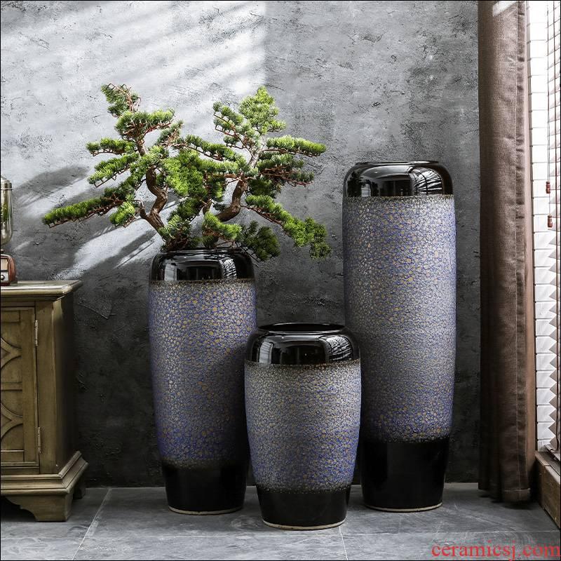 Jingdezhen ceramic hotel new Chinese style villa large vases, the sitting room porch flower arranging, decorative flower arranging furnishing articles