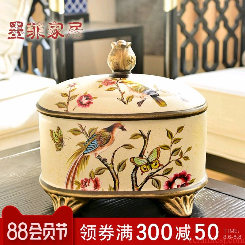 Creative furnishing articles artical ceramic storage tank household soft adornment ornament wedding present receive a case to the living room
