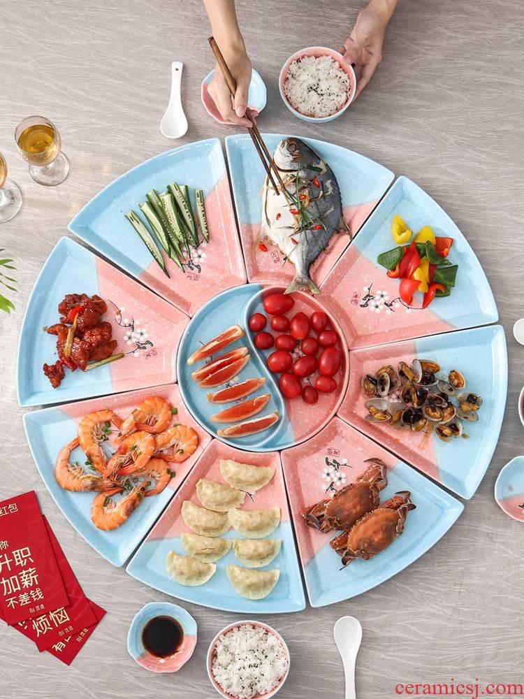 0 reunion party hot pot dinner the dishes suit household creative web celebrity ceramic platter tableware portfolio