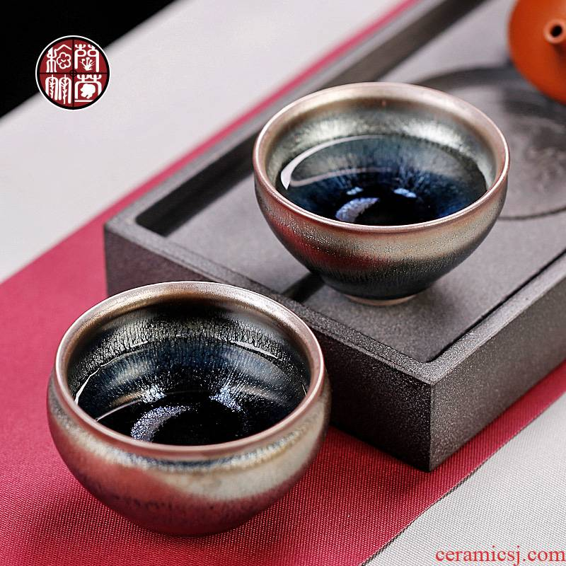By patterns jianyang undressed ore checking silver nano built one master personal kung fu tea cup, single glass ceramic cups