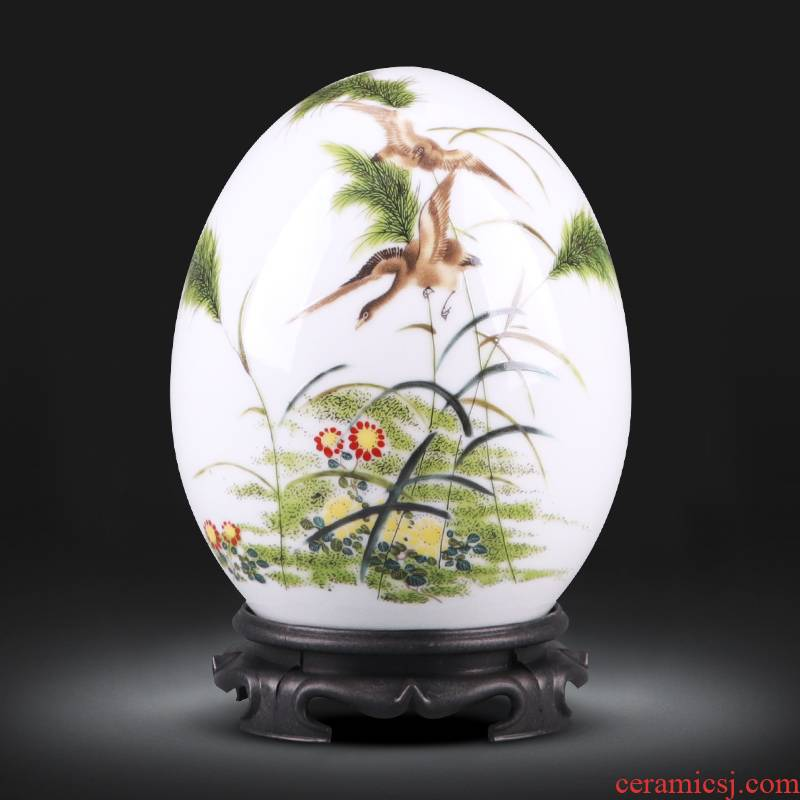 Jingdezhen ceramics f egg new Chinese style household living room TV cabinet wine furnishing articles crafts jewelry ornament