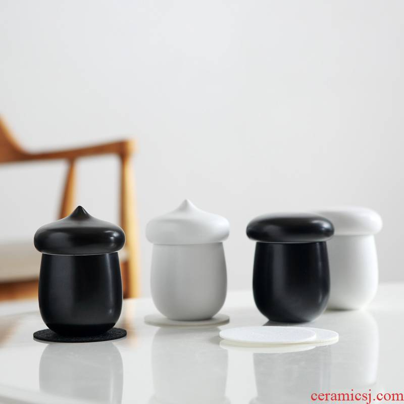 Red the jingdezhen ceramic crack cup travel tea set filter contracted small cups and fresh tea cup)