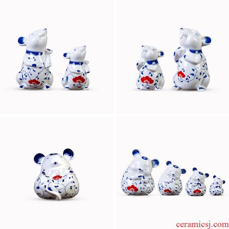 2020 year of the rat rat pendulum hand - made porcelain enamel ceramic decorative furnishing articles year of the rat