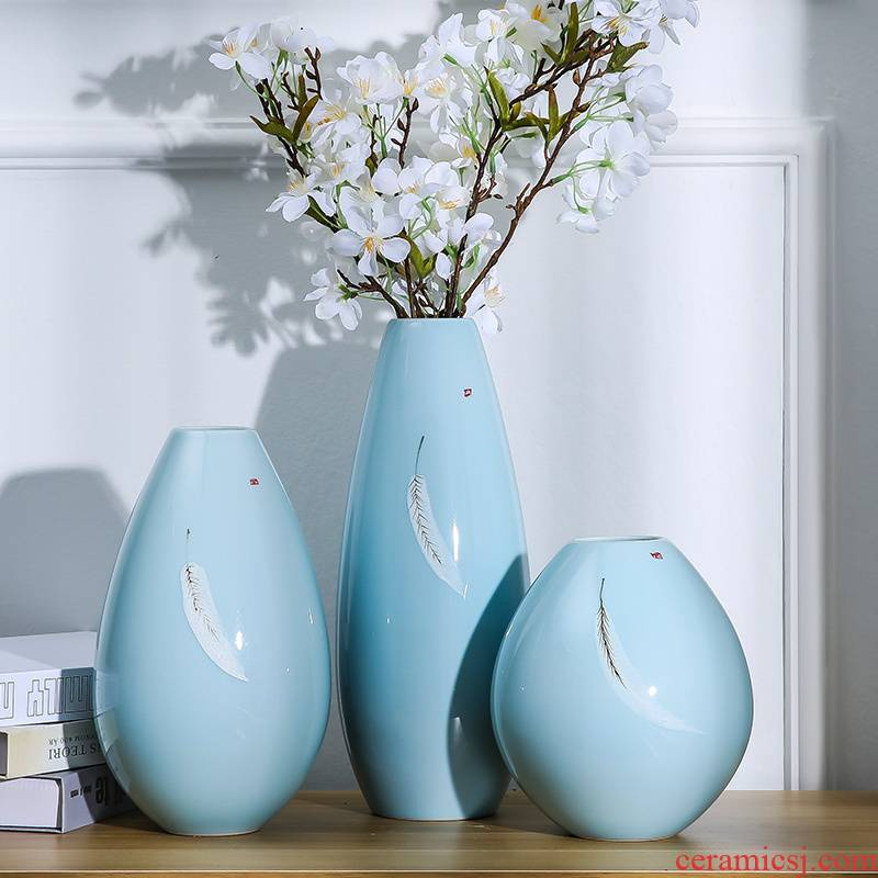 Large ceramic vase landed Chinese nostalgic home decoration flower arranging hydroponic sitting room place wedding housewarming gift