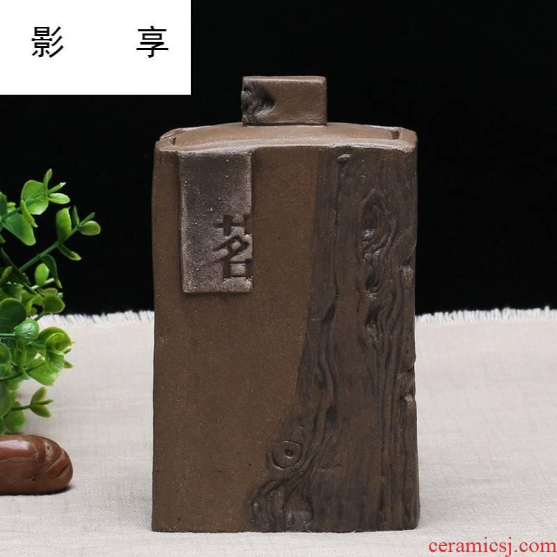 We at hand tea boutique violet arenaceous caddy fixings portable tea urn wake receives pu - erh tea storage POTS SYX