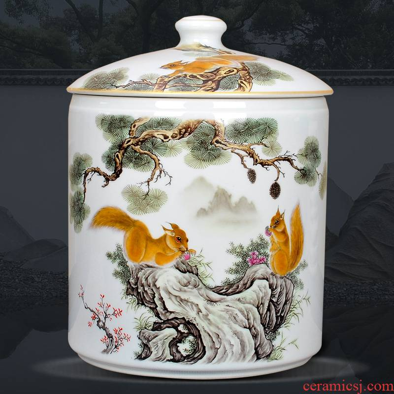 Creative number seven cake caddy fixings ceramic furnishing articles of restoring ancient ways of pu - erh tea storage tanks to receive tea tins van moistureproof box