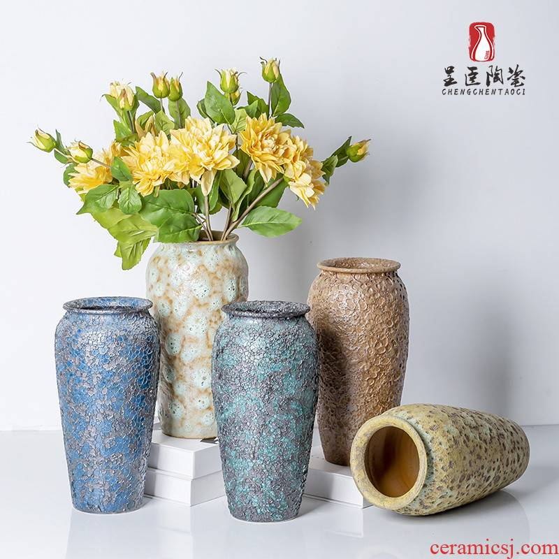 New ceramic furnishing articles in the New Chinese style restoring ancient ways is dried flowers sitting room porch TV ark adornment of I and contracted hydroponics