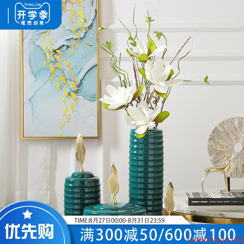 Europe type restoring ancient ways of pottery and porcelain vase decoration creative furnishing articles home sitting room dry flower flower arranging hotel table decoration
