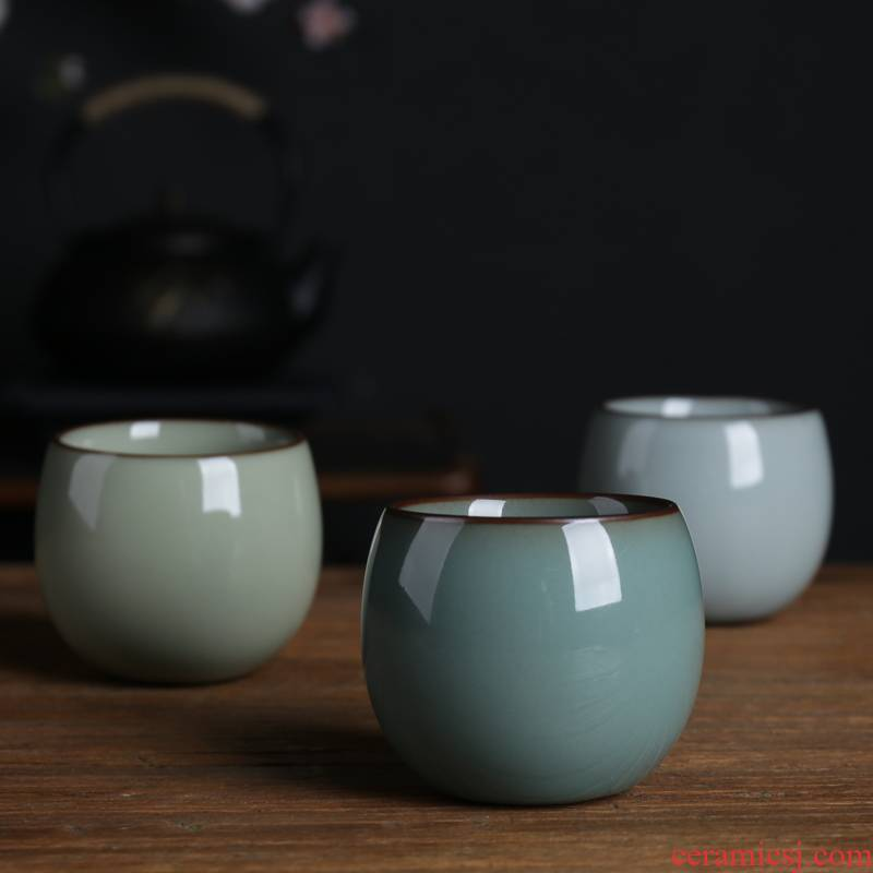 Poly real scene Wang Wuquan manual cup kung fu tea cups tire purple expressions using bowl celadon collection of fine iron sample tea cup