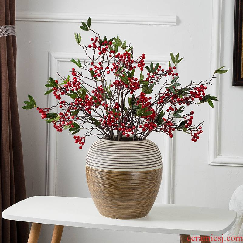 Mesa ceramic vase sitting room porch hotel furnishing articles dry flower arranging flowers, flower implement I and contracted household adornment ornament