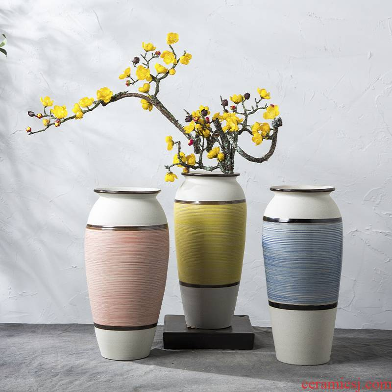 Nordic vase furnishing articles dried flower adornment flower arrangement sitting room table, TV ark, I and contracted household ceramic pottery