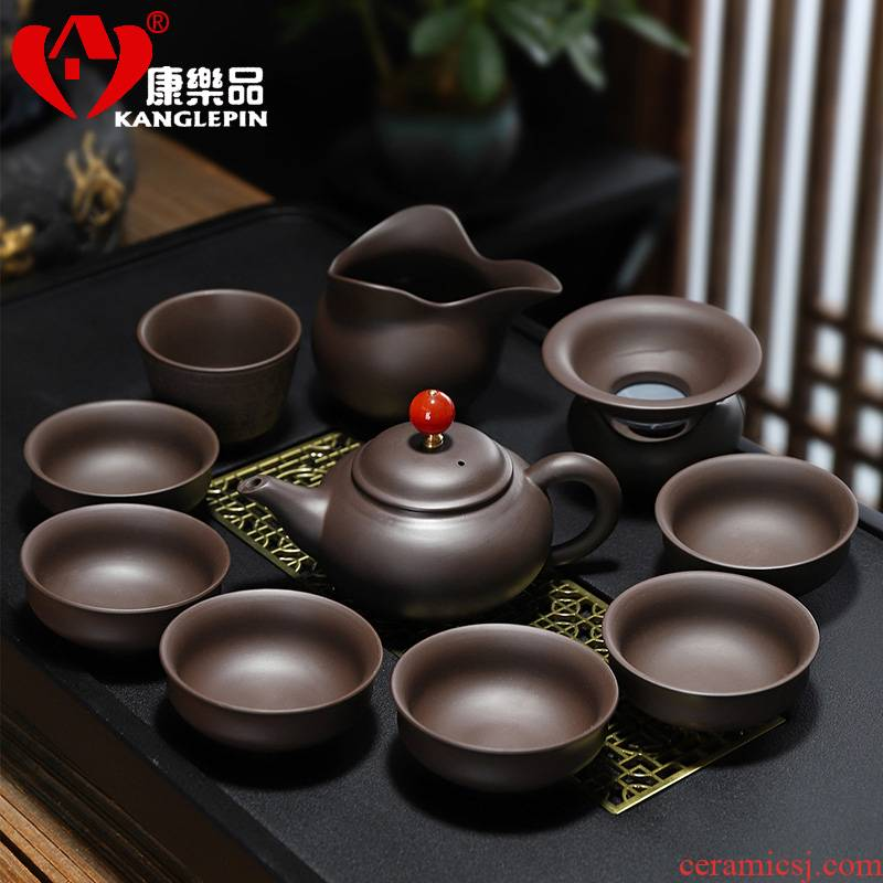 Recreational product kung fu tea set archaize pot office home yixing purple sand tea set gift of a complete set of the teapot