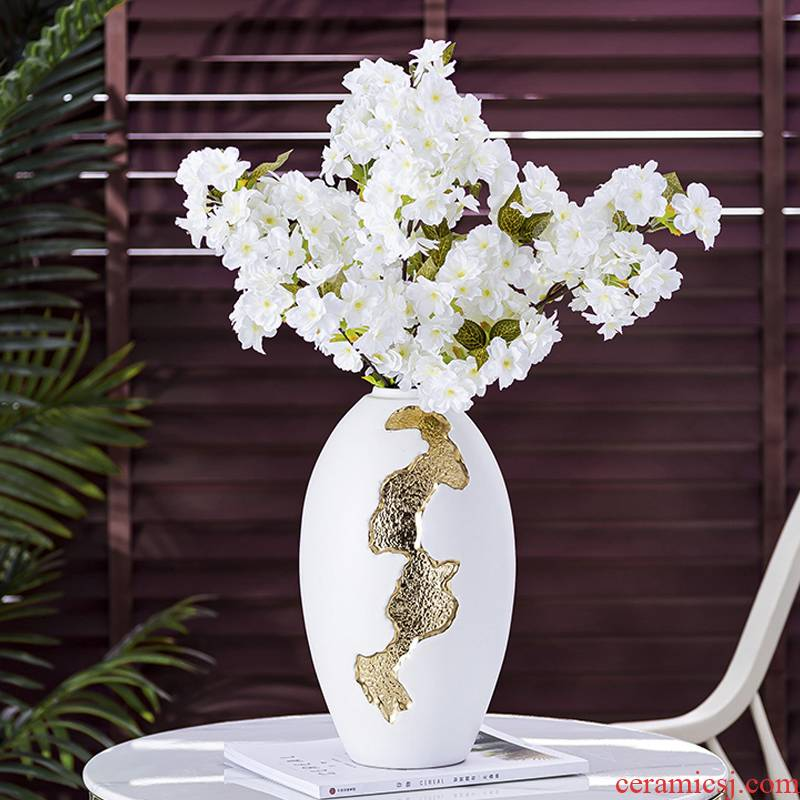 Modern light much wind ceramic vase furnishing articles sitting room Nordic TV ark, porch household soft adornment the flower arranging flowers