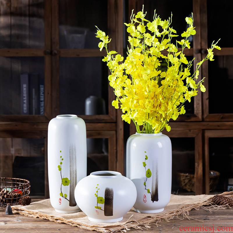 I and contracted ceramic vase furnishing articles at home sitting room dry flower decoration flower arranging TV cabinet table creative jewelry