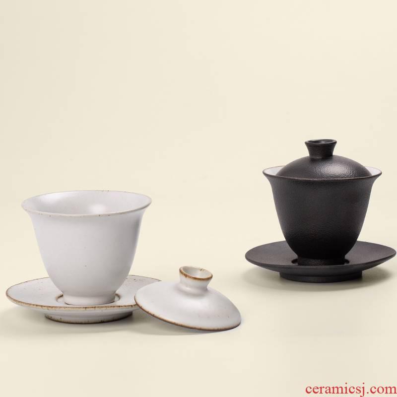 RenXin ceramic tureen kung fu tea set three to cup your up to use coarse pottery home tea hand grasp tureen tea