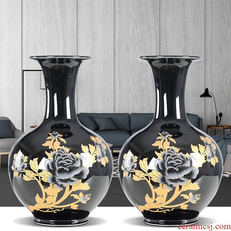 Jingdezhen ceramics vase wine accessories furnishing articles sitting room porch office rich ancient frame flower arranging small and pure and fresh