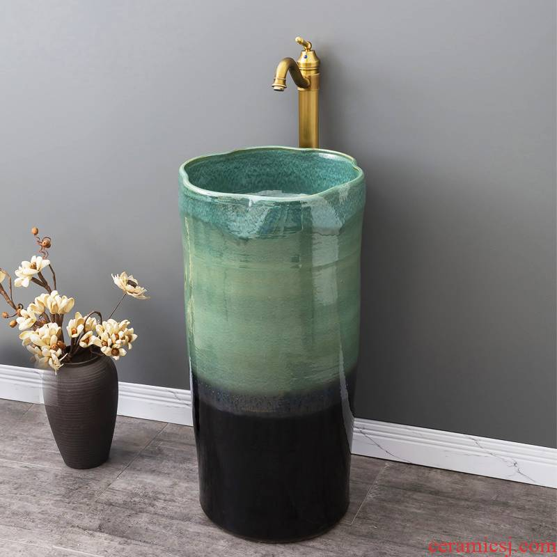 Is suing garden ceramics column basin one floor type lavatory household balcony small family toilet lavabo