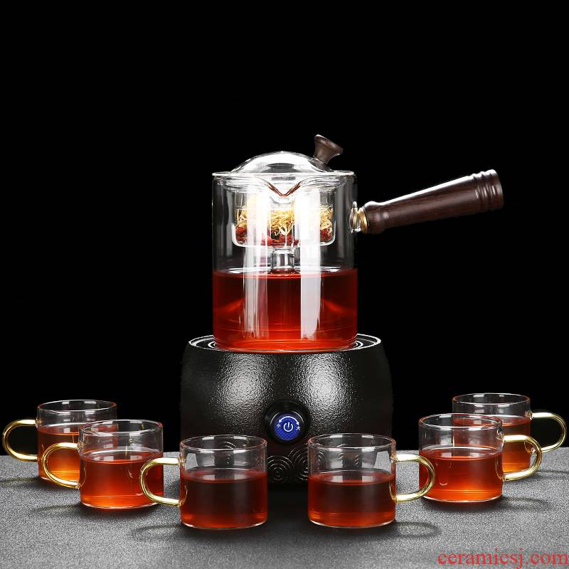 RenXin glass steam boiling tea pot cooking automatic tea stove'm electric teapot TaoLu household utensils suits for
