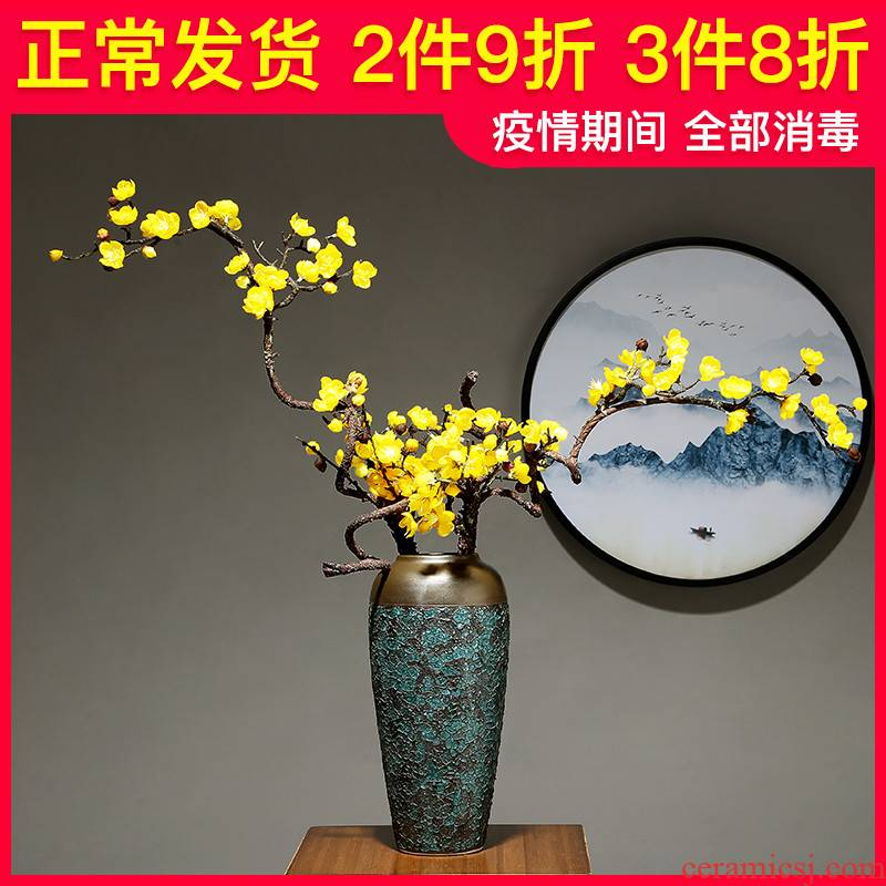 Light European - style key-2 luxury ceramic vase simulation study modern table dry flower arranging flowers is placed to the sitting room porch home decoration