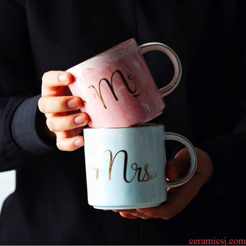Northern wind ins marble ceramic keller up phnom penh office household milk water cup coffee lovers