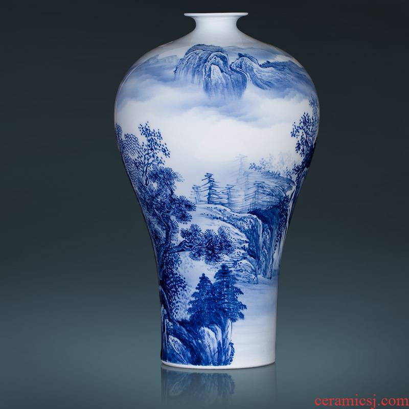 Jingdezhen ceramic hand - made porcelain new Chinese style living room hotel home furnishing articles furnishing articles flower arrangement