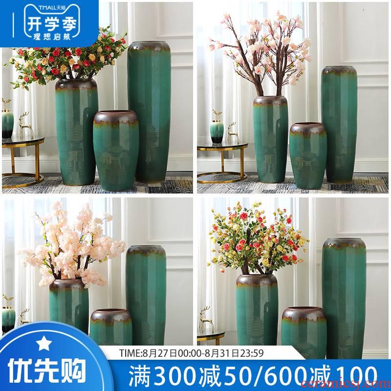 Jingdezhen ceramic vase restoring ancient ways furnishing articles sitting room porch light large key-2 luxury hotel simulation flower, adornment is placed